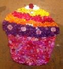 bead cupcake for bead activity